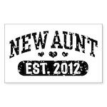 New Aunt 2012 Sticker (Rectangle)