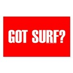 Got Surf? Rectangle Sticker