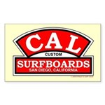 Cal Custom Surfboards Rectangle Sticker