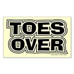 Toes Over Rectangle Sticker
