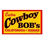 Cowboy Bob's Rectangle Sticker