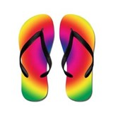 Tye-Dye Groovy Circle Flip Flops