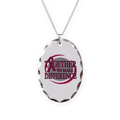 Multiple Myeloma Support Necklace Oval Charm