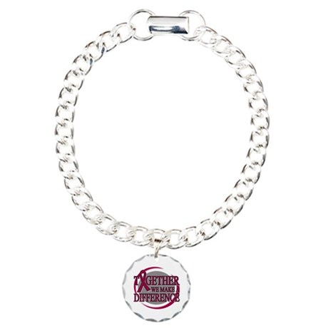 Multiple Myeloma Support Charm Bracelet, One Charm