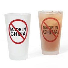 Not Made in China Drinking Glass