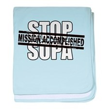 Stop Sopa - Mission Accomplis baby blanket