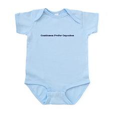 Funny Blondes prefer gentlemen Infant Bodysuit