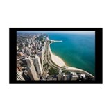 Chicago Lakefront 38.5 x 24.5 Wall Peel