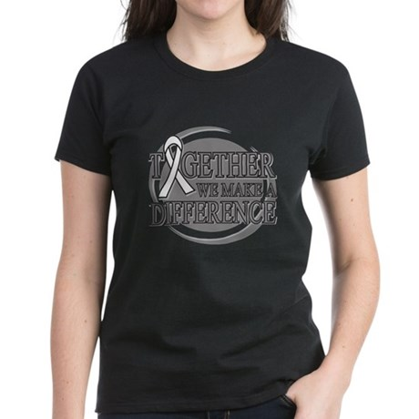 Lung Cancer Support Women's Dark T-Shirt