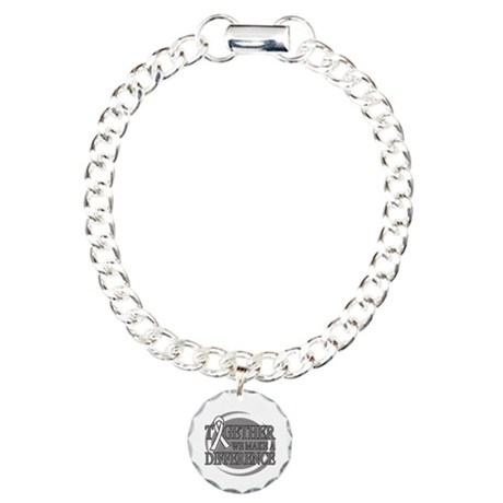 Lung Cancer Support Charm Bracelet, One Charm