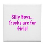 Girl's Trucks Tile Coaster