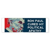 Ron Paul Cured My Apathy (Bumper)