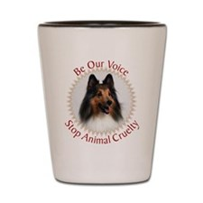 Be Our Voice Stop Animal Crue Shot Glass