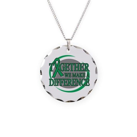 Liver Cancer Support Necklace Circle Charm
