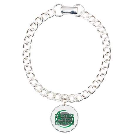 Liver Cancer Support Charm Bracelet, One Charm