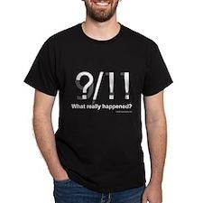 ?/!! Black T-Shirt