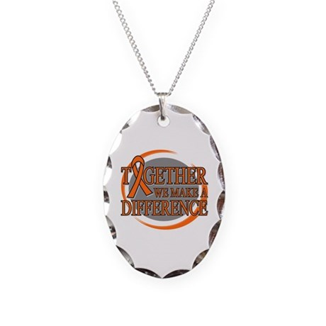 Leukemia Support Necklace Oval Charm