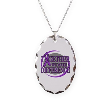 Leiomyosarcoma Support Necklace Oval Charm