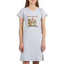 Valentine Squirrels Women's Nightshirt