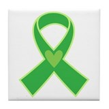 Green Ribbon Awareness Tile Coaster