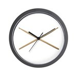 DRUMSTICKS III Wall Clock