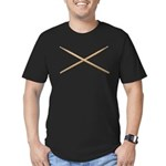 DRUMSTICKS III Men's Fitted T-Shirt (dark)
