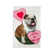 bulldog kisses Rectangle Magnet