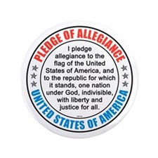 "Pledge of Allegiance 3.5"" Button (100 pack)"