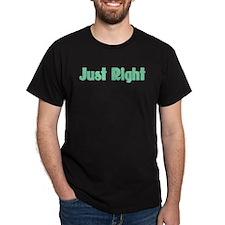 Just Right Black T-Shirt