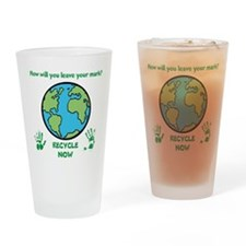 Recycle Now Drinking Glass