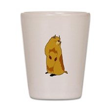 dramatic look gopher Shot Glass