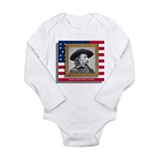 George Armstrong Custer Long Sleeve Infant Bodysui