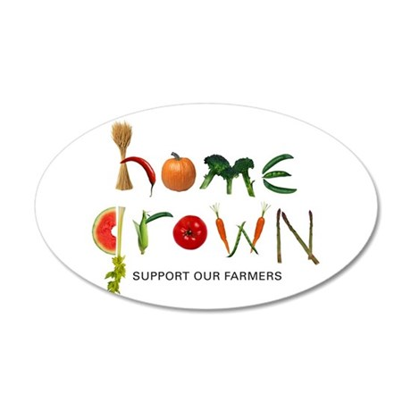 Home Grown. Support our Farme 38.5 x 24.5 Oval Wal