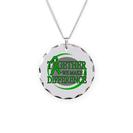 Kidney Cancer Support Necklace Circle Charm