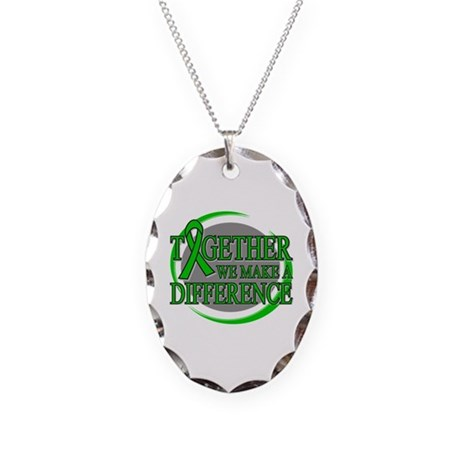 Kidney Cancer Support Necklace Oval Charm