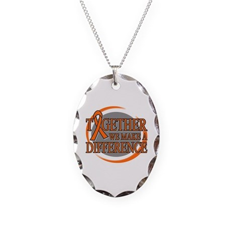 Kidney Cancer Support 2 Necklace Oval Charm