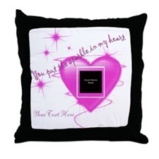 Heart Sparkle Throw Pillow