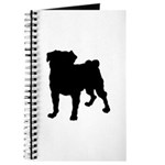 Christmas or Holiday Collie Silhouette Journal