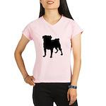 Pug Silhouette Performance Dry T-Shirt