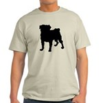 Christmas or Holiday Collie Silhouette Light T-Shi