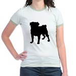 Christmas or Holiday Collie Silhouette Jr. Ringer