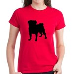 Christmas or Holiday Collie Silhouette Women's Dar