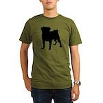 Pug Silhouette Organic Men's T-Shirt (dark)