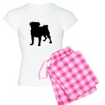 Christmas or Holiday Collie Silhouette Women's Lig