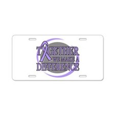 General Cancer Support Aluminum License Plate
