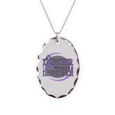 General Cancer Support Necklace Oval Charm