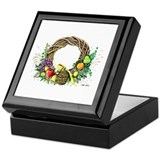 """Harvest Wreath"" Keepsake Box"