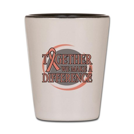 Endometrial Cancer Support Shot Glass
