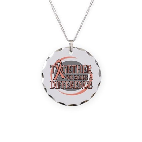 Endometrial Cancer Support Necklace Circle Charm