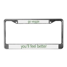 """go veggie"" License Plate Frame"